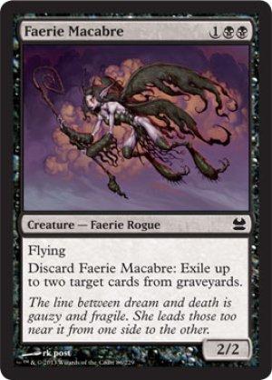 画像1: 【FOIL】フェアリーの忌み者/Faerie Macabre [MMA-ENC]