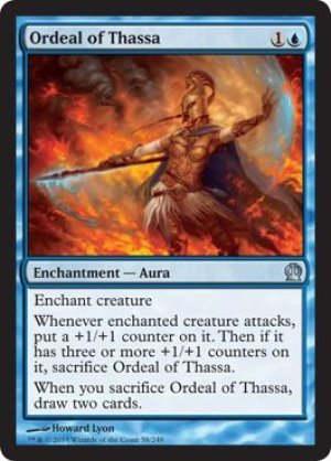 画像1: 【FOIL】タッサの試練/Ordeal of Thassa [THS-ENU]