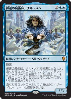 画像1: 【FOIL】練達の魔術師、ナル・メハ/Naru Meha, Master Wizard [DOM-JPM]